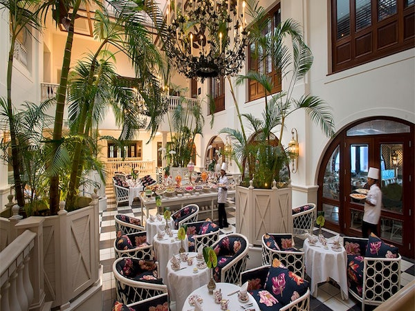 The Palm Court at the Oyster Box Hotel