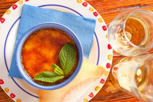 The brûlée at 96 Winery Road. Photo courtesy of the restaurant.