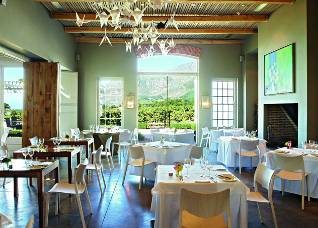 Inside Catharina's at Steenberg. Photo courtesy of the restaurant.