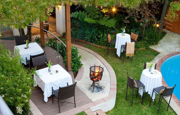 The garden at Clico. Photo courtesy of the restaurant.