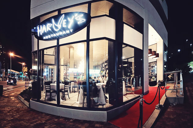 Outside Harvey's. Photo courtesy of the restaurant.