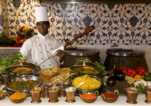 The Ocean Terrace curry buffet at the Oyster Box Hotel. Photo supplied.