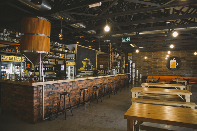 The interior at Capital Craft. Photo courtesy of the restaurant.