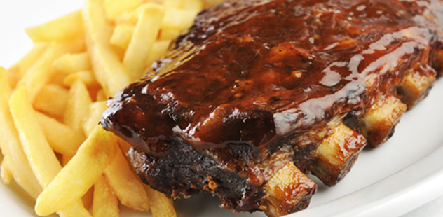 Ribs and chips at The Hussar Grill. Photo courtesy of the restaurant.