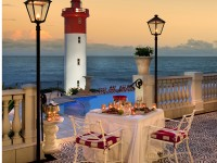 outdoor dining area at The Lighthouse