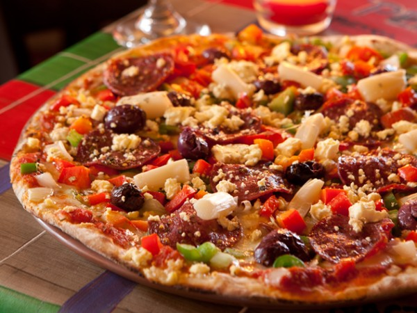 A colourful pizza from Bacini's. Photo supplied.