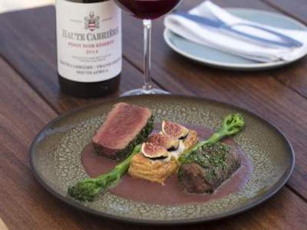 Haute Cabrière Cellar Restaurant Meal