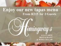 Hemingway's Tapas flyer