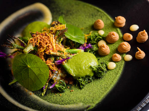 a dish prepared and served at Indochine