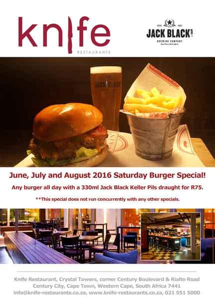 specials at Knife Restaurant