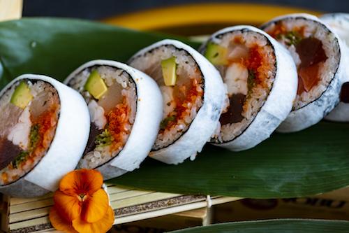 sushi served at Nobu