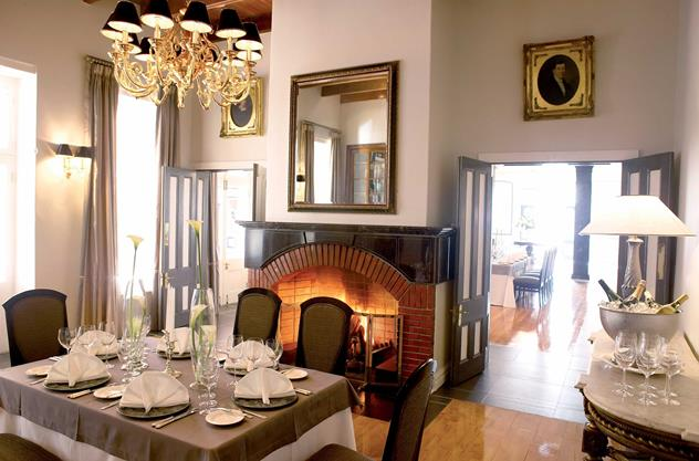 Bosman's Restaurant at Grande Roche Hotel. Photo courtesy of the restaurant.