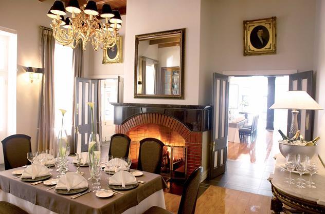 Bosman's Restaurant at Grande Roche Hotel. Photo courtesy of the restaurant.
