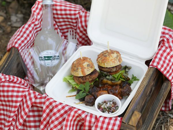 Picnic basket prepared and served at Rosemary Hills