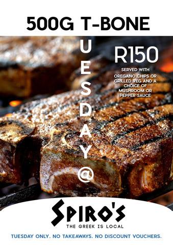 t-bone Tuesday at Spiro's