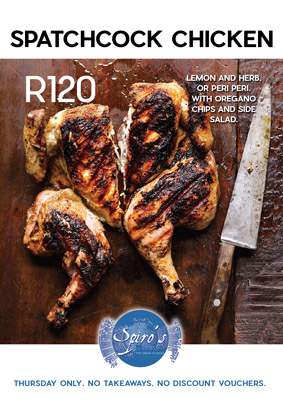 chicken special at Spiro's