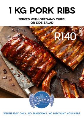 rib specials at Spiro's