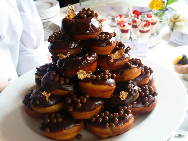doughnuts served at Prue Leith Restaurant
