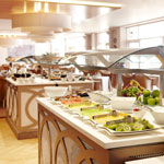 Breakfast buffet prepared and served at Oasis Bistro