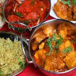 Indian cuisine prepared and served at Pride of India