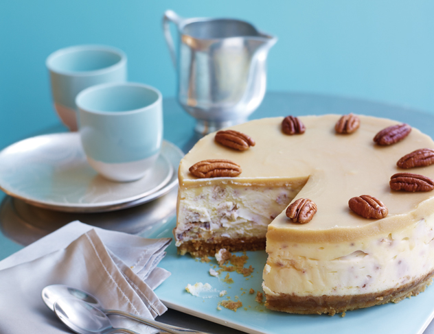 Hummingbird Bakery's butterscotch pecan cheesecake