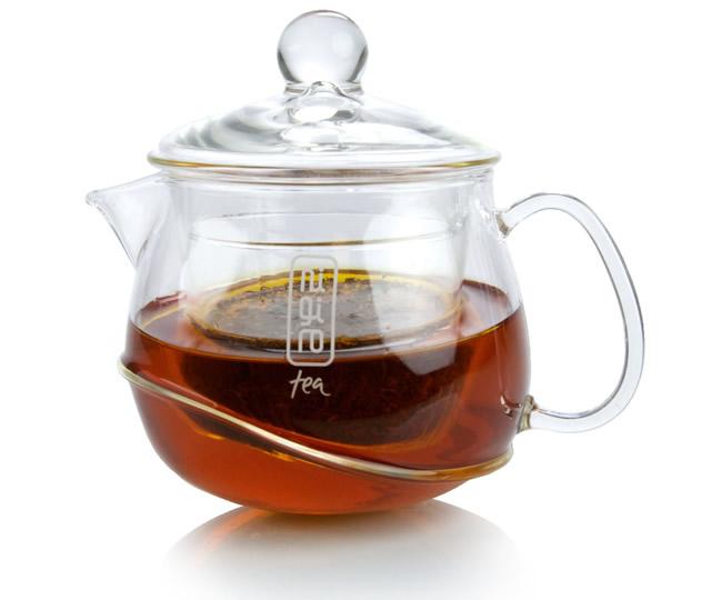 Nigiro rocking glass teapot