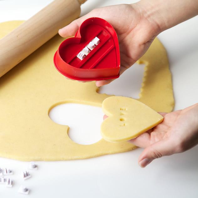 Letterpress cookie set