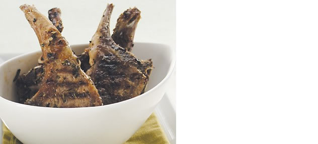 Grilled lamb cutlets with salsa verde