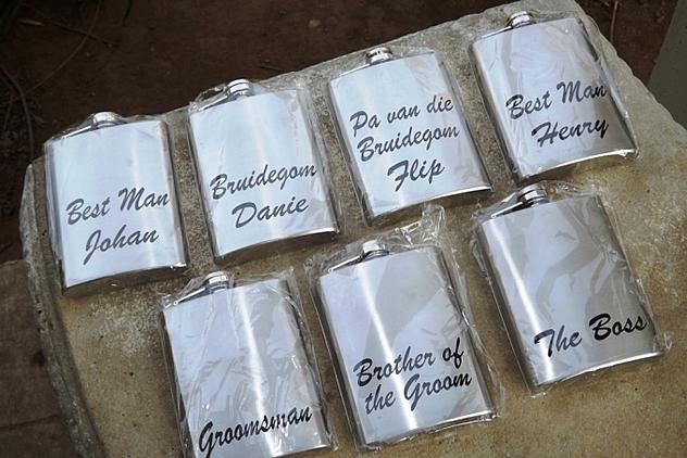 Personalised whisky flasks