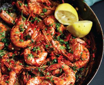 Alida Ryder's chilli prawns