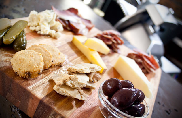 A cheeseboard at SALT Eatery
