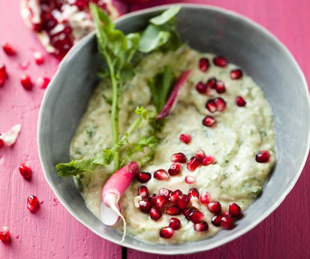 Fragrant Lebanese bean-and-pomegranate meze