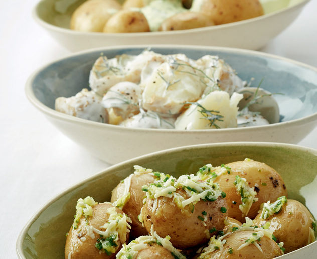 Potato salad three ways