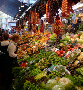 The Boqueria Market photographed by Mark Cutler