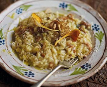 Antonia Carlucci's mushroom risotto