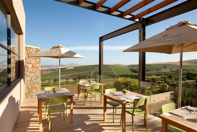The deck at Durbanville Hills. Photo courtesy of the restaurant.