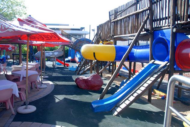 The play area outside Villa San Giovanni. Photo courtesy of the restaurant.