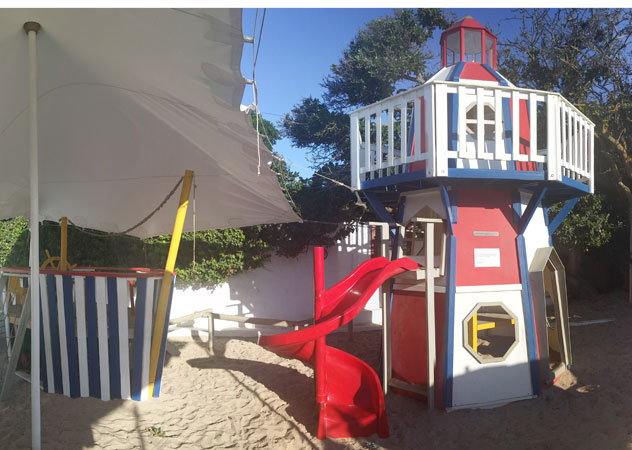 The play area at Die Damhuis. Photo courtesy of the restaurant