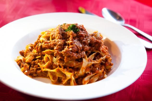 pasta dish prepared and served at Goloso Italian Restaurant and Deli