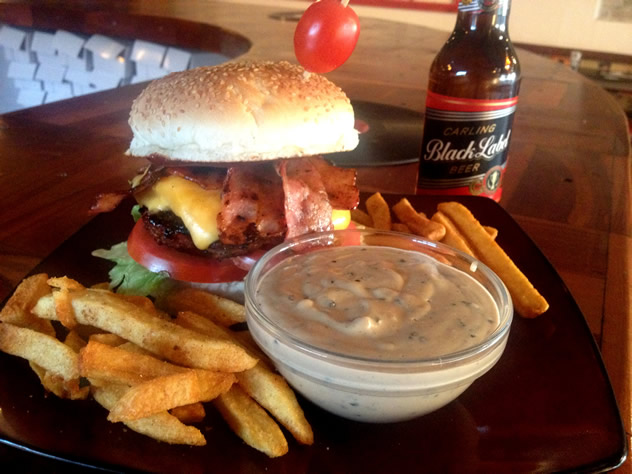 A burger meal at the Burger Bistro. Photo courtesy of the restaurant.