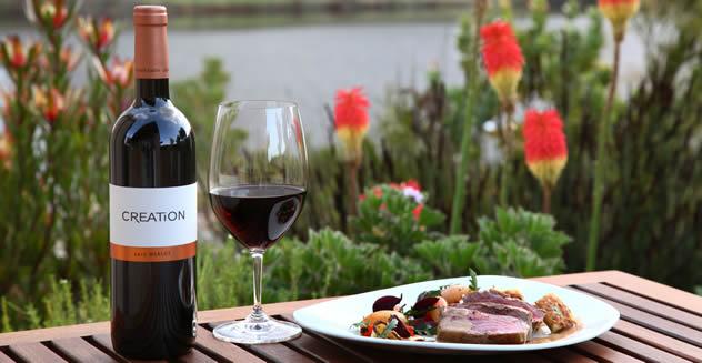 Food in Creation Wines' garden