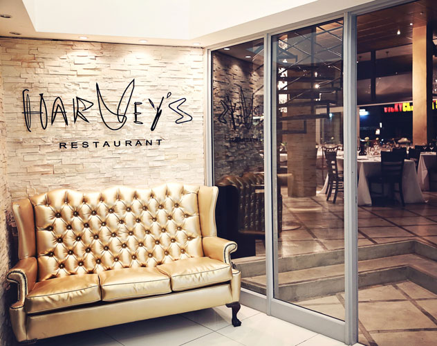 The interior at Harvey's