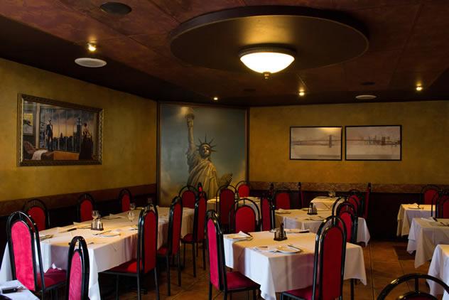 The interior at New York Restaurant