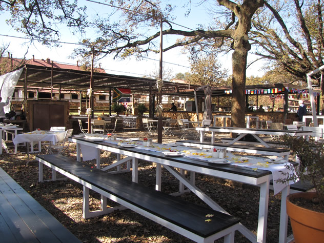 Exterior eating area at The Barn. Photo courtesy of the restaurant
