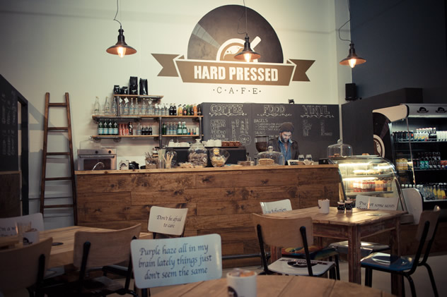 The coffee counter at Hard Pressed Café. Photo courtesy of the restaurant.