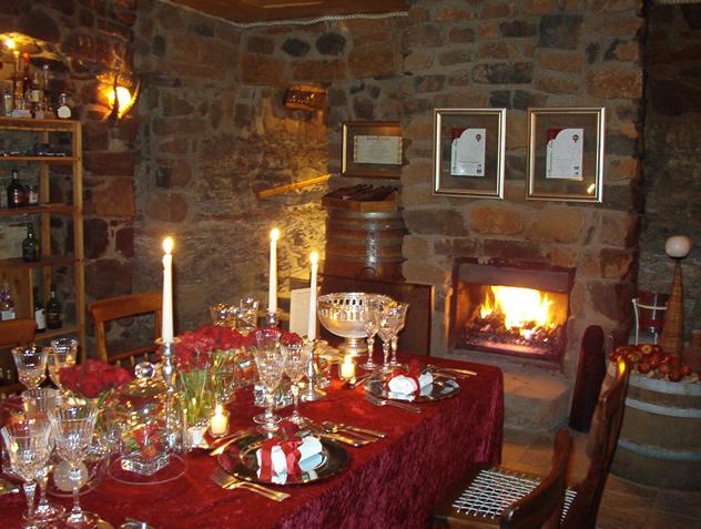 The interior at De Oude Kraal Restaurant