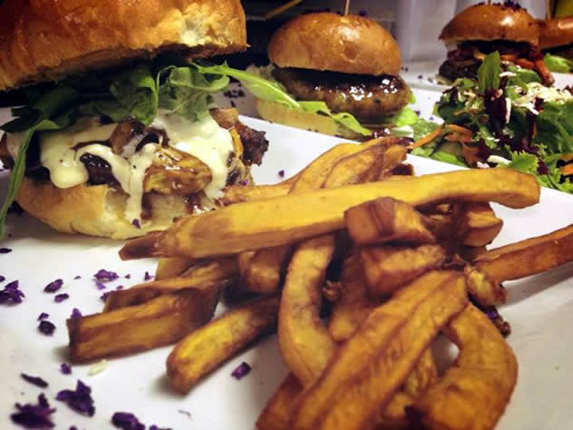 A burger at the Royale Eatery. Photo courtesy of the restaurant.