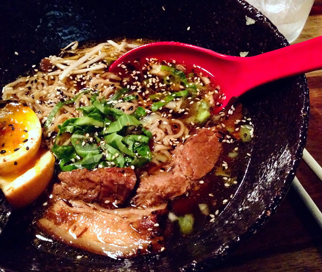 Food at Downtown Ramen. Photo courtesy of Jeanne Calitz.