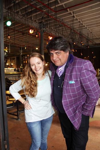 Katharine Jacobs and Matt Preston at Truth Coffee Roasting HQ