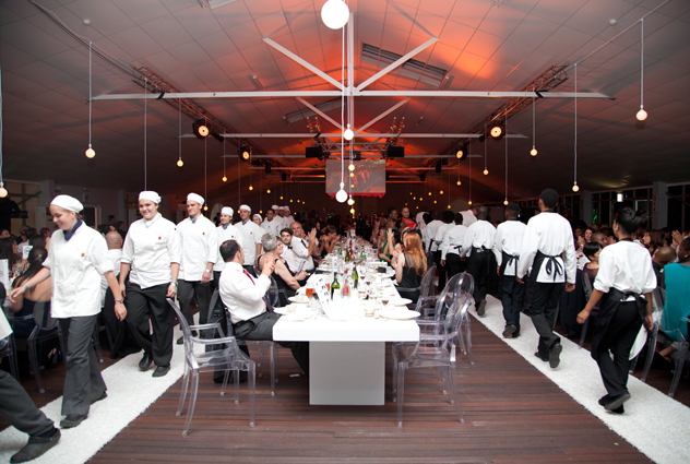 The chefs' parade at the 2013 Eat Out DStv Food Network Restaurant Awards